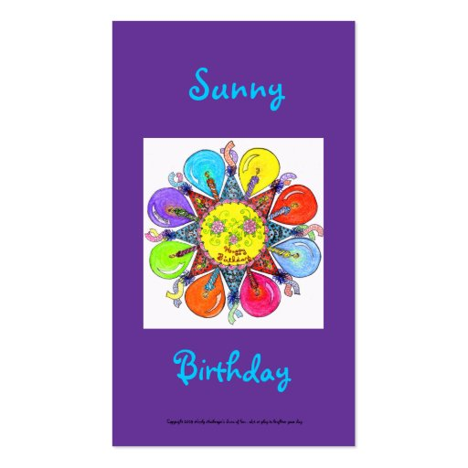 Sunny Birthday Series #5 Business Card Template