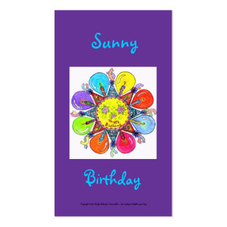 Sunny Birthday Series #5 Pack Of Standard Business Cards