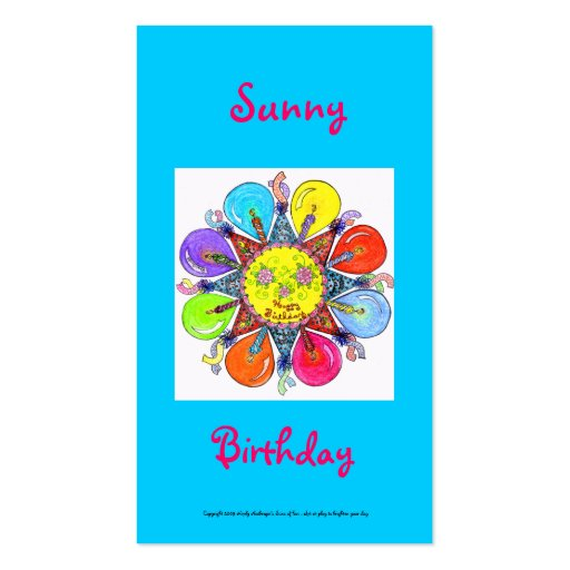Sunny Birthday Series #6 Business Card Template
