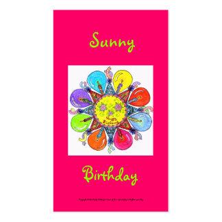 Sunny Birthday Series #7 Pack Of Standard Business Cards