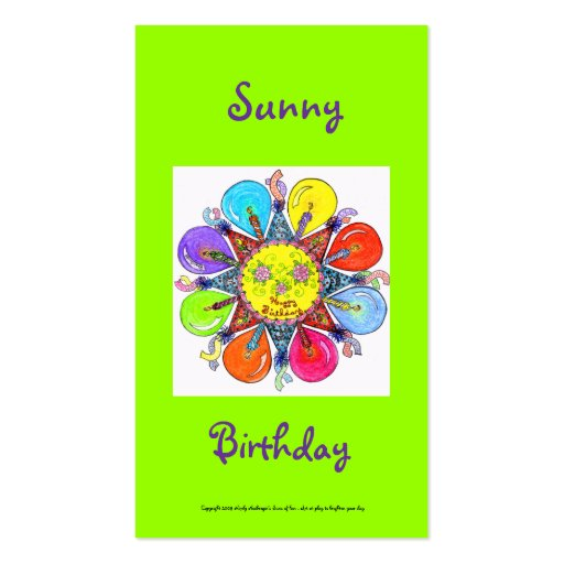 Sunny Birthday Series #8 Business Card Templates