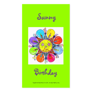 Sunny Birthday Series #8 Pack Of Standard Business Cards