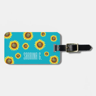 Sunny Bright Sunflower Luggage Tag