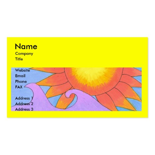 Sunny Business Card Template