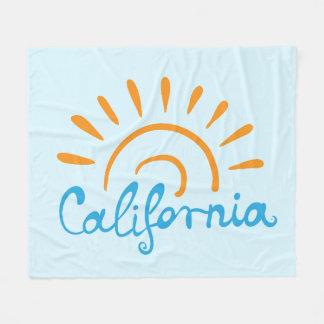 Sunny California Logo Fleece Blanket