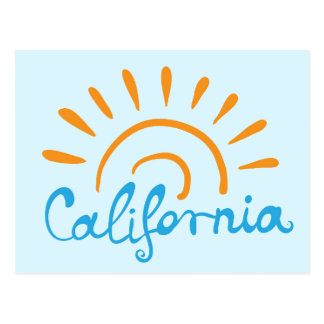 Sunny California Logo Postcard