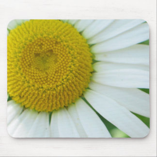 Sunny Center Yellow and White Daisy Mouse Pads