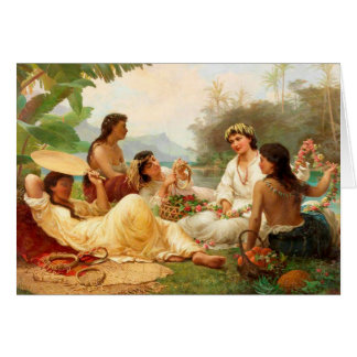 'Sunny Clime, Tahiti' - Nicholas Chevalier Card
