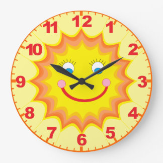 Sunny Clock With Numbers