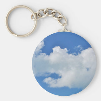 sunny cloud basic round button key ring