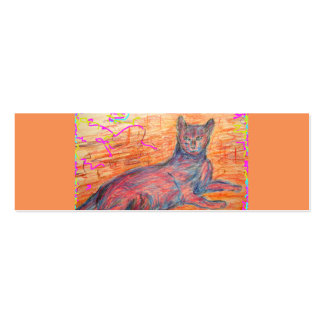 sunny cobblestone cat pack of skinny business cards