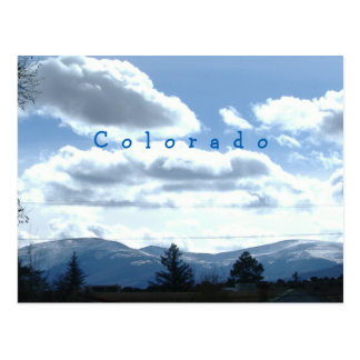 Sunny Colorado Mountain View Postcards