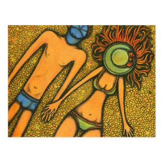 Sunny Couple Postcard