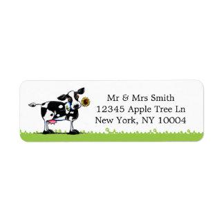 Sunny Cow Return Address Label