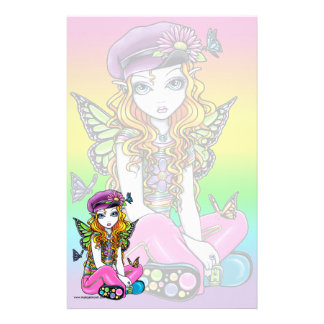 """Sunny"" Cute Rainbow Butterfly Fairy Stationery"