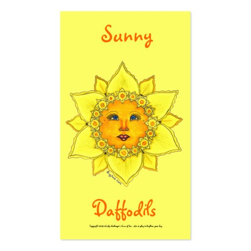 Sunny Daffodil Series #1 Business Cards