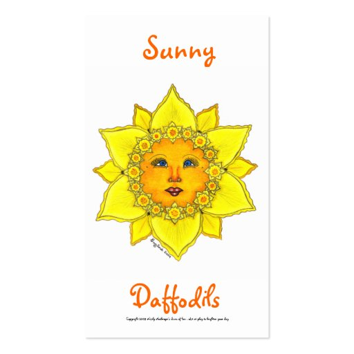 Sunny Daffodil Series #2 Business Card Template