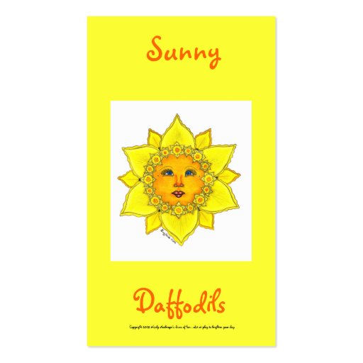 Sunny Daffodil Series #3 Business Card Templates