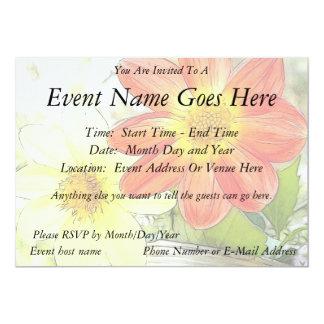 Sunny Dahlias Custom Invite