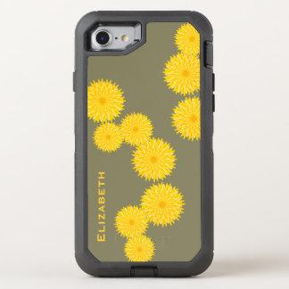 Sunny dandelion strands pattern OtterBox defender iPhone 8/7 case