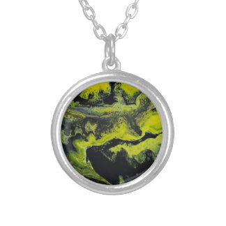 Sunny Darkness Silver Plated Necklace