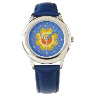 Sunny Day   Blue     Vintage Kids Watch