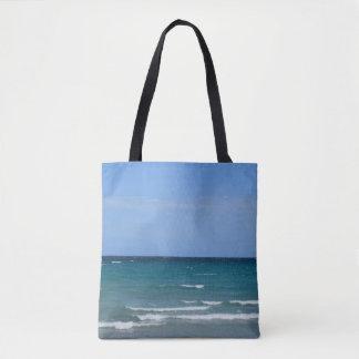 Sunny Day Clear Ocean beach tote bag