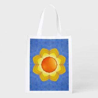 Sunny Day Colorful Reusable Bags Market Totes