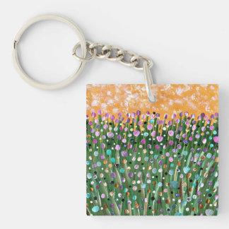 Sunny Day Double-Sided Square Acrylic Key Ring