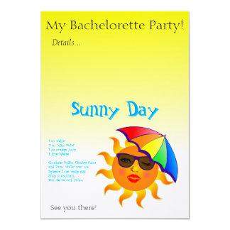 Sunny Day Drink Recipe 13 Cm X 18 Cm Invitation Card