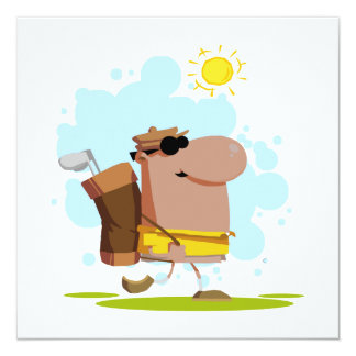 Sunny Day Golf - African American 13 Cm X 13 Cm Square Invitation Card