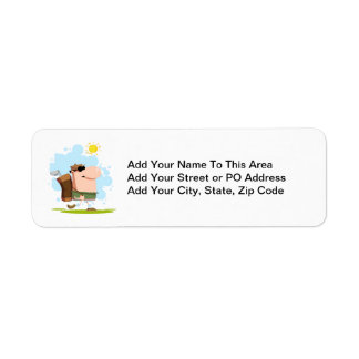 Sunny Day Golf - White Golfer T-shirts and Gifts Return Address Label
