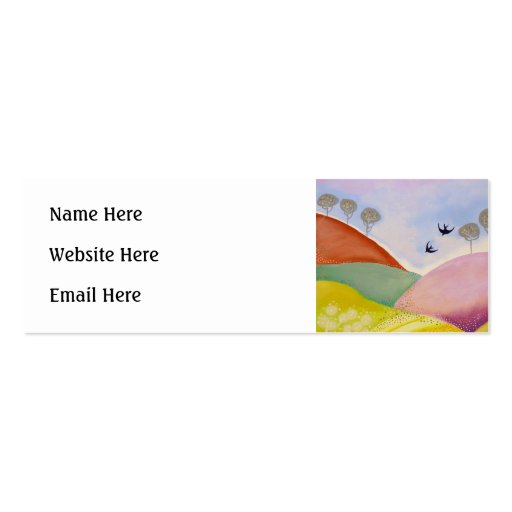 Sunny Day in the Country. Business Cards