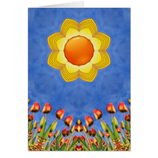 Sunny Day Kaleidoscope  Custom Greeting Cards