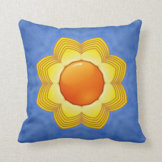 Sunny Day Kaleidoscope Pattern  Throw Pillows