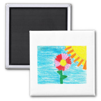 sunny day square magnet