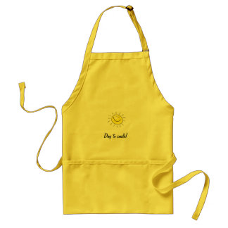 Sunny day, smiling sun, Day to smile! Standard Apron