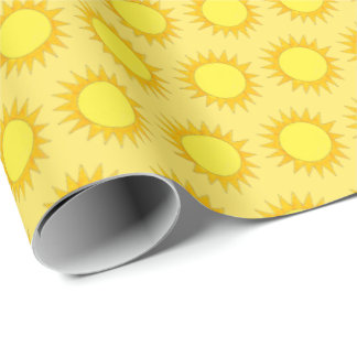 Sunny Day Summer Yellow Sun Sunshine Print Wrapping Paper