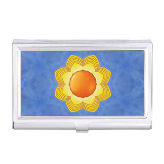 Sunny Day Vintage Kaleidoscope  Business Card Case