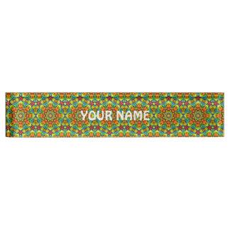 Sunny Day Vintage   Kaleidoscope   Desk Nameplate