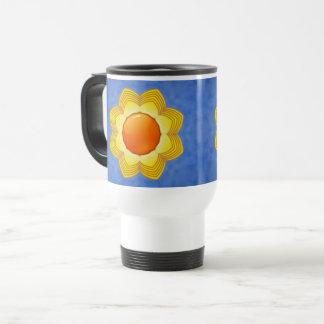 Sunny Day Vintage Kaleidoscope   Travel Mug
