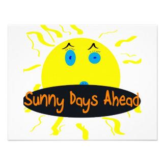 sunny days ahead invitation
