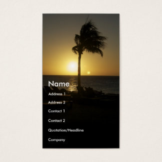 Sunny days and sunsets business card