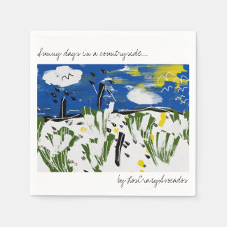 Sunny days in a countryside Art Paper Napkin