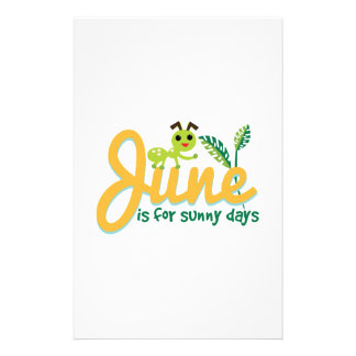 Sunny Days Personalized Stationery