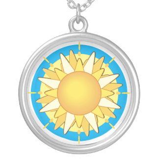 Sunny Days Sterling Silver Pendant Necklace