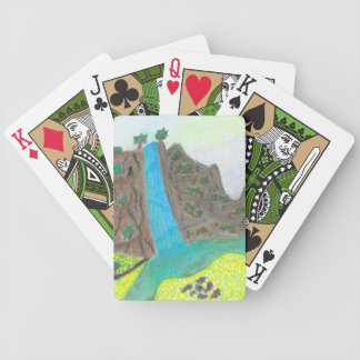 Sunny Falls Cliff and Meadow Scenic Bicycle Cards