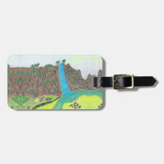 Sunny Falls Cliff and Meadow Scenic Luggage Tag