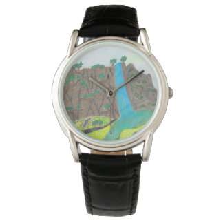 Sunny Falls Cliff and Meadow Scenic Watch