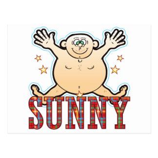 Sunny Fat Man Postcard
